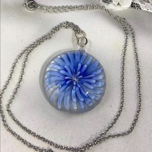 Mirano Glass Flower Pendant Necklace